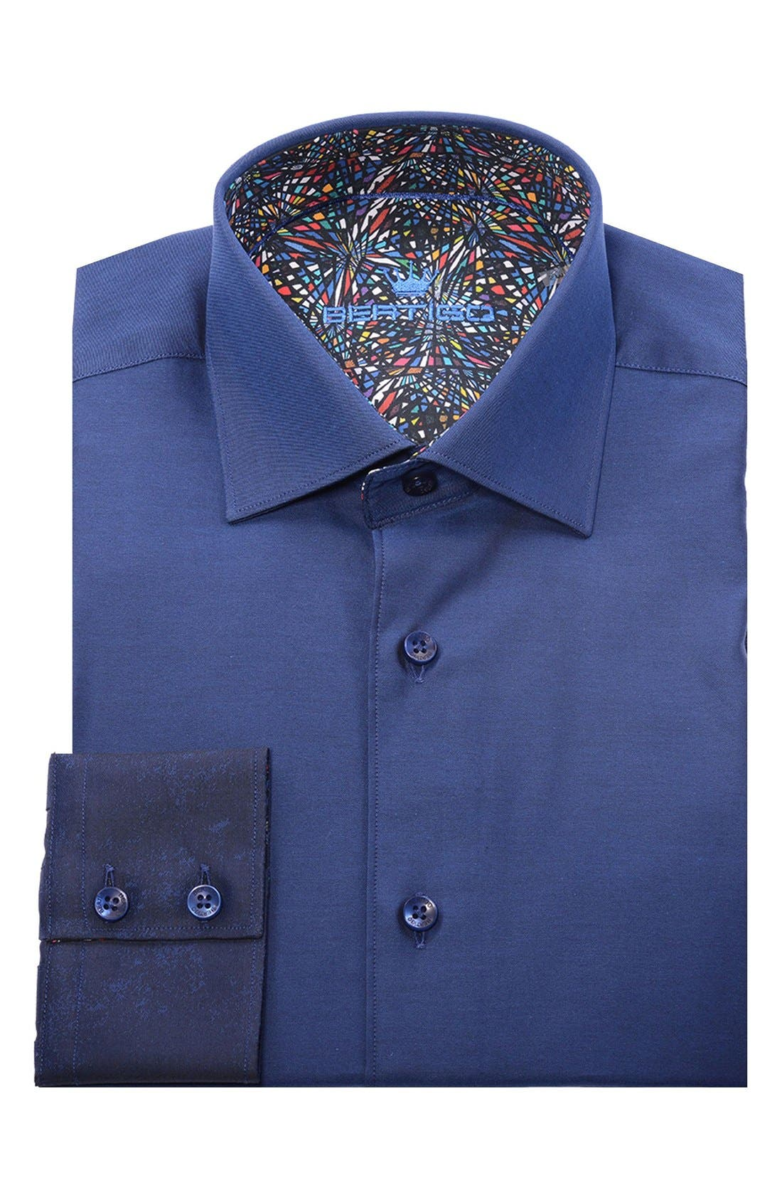 Alternate Image 4  - Bertigo Abstract Modern Fit Sport Shirt