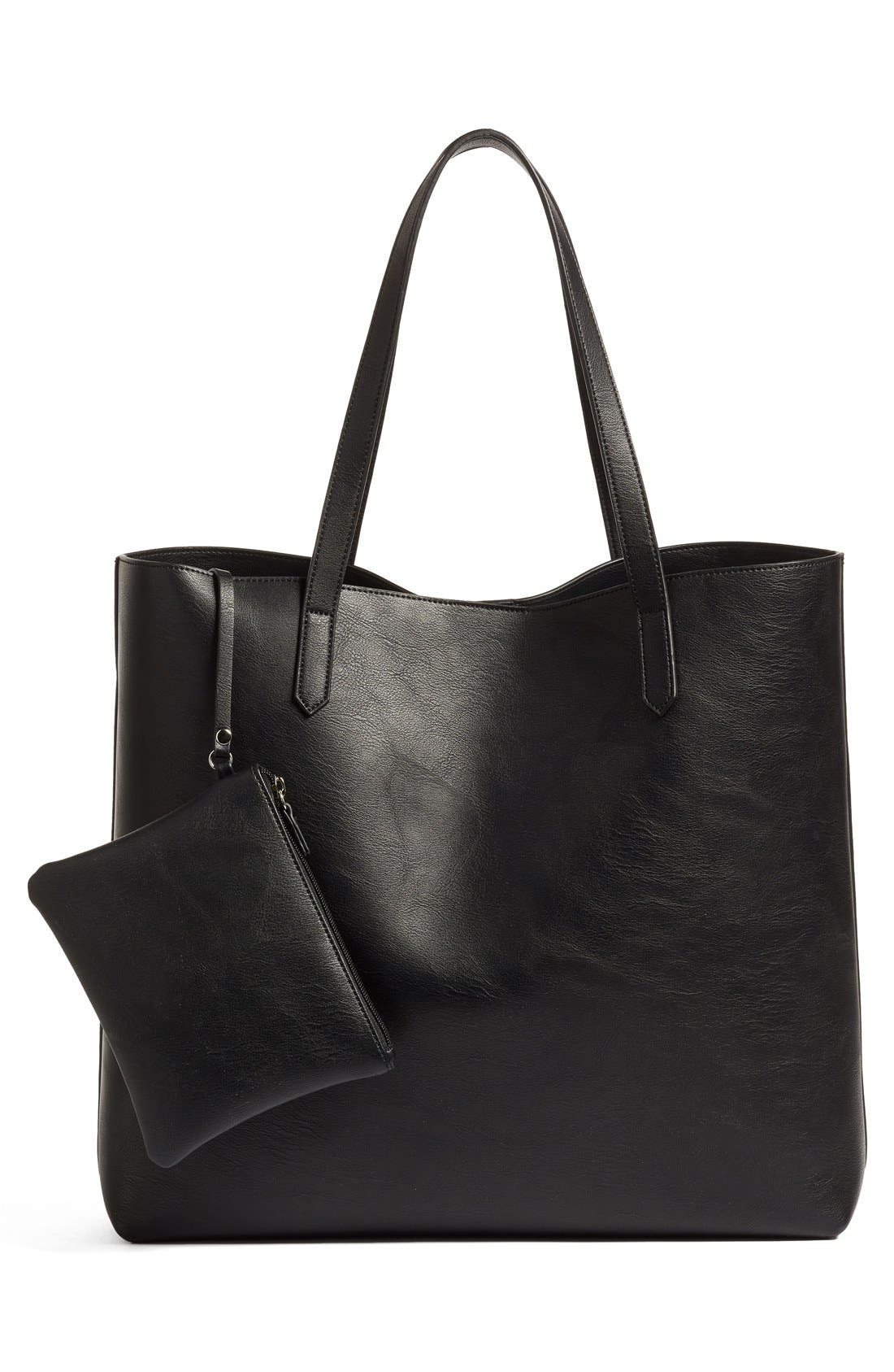 Alternate Image 3  - Phase 3 Faux Leather Tote