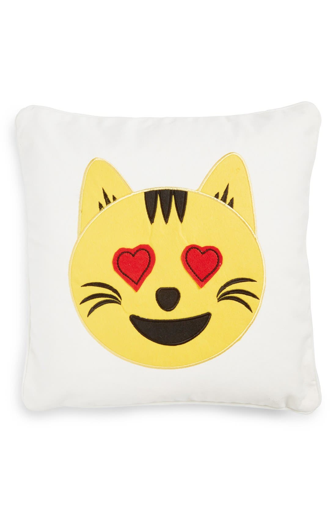 Main Image - Levtex Cat Emoji Pillow