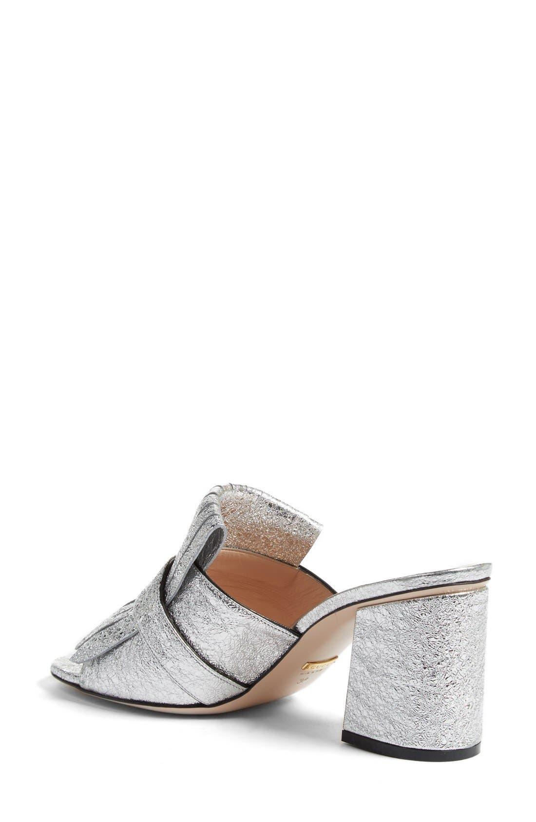 Alternate Image 2  - Gucci GG Marmont Peep Toe Kiltie Mule (Women)