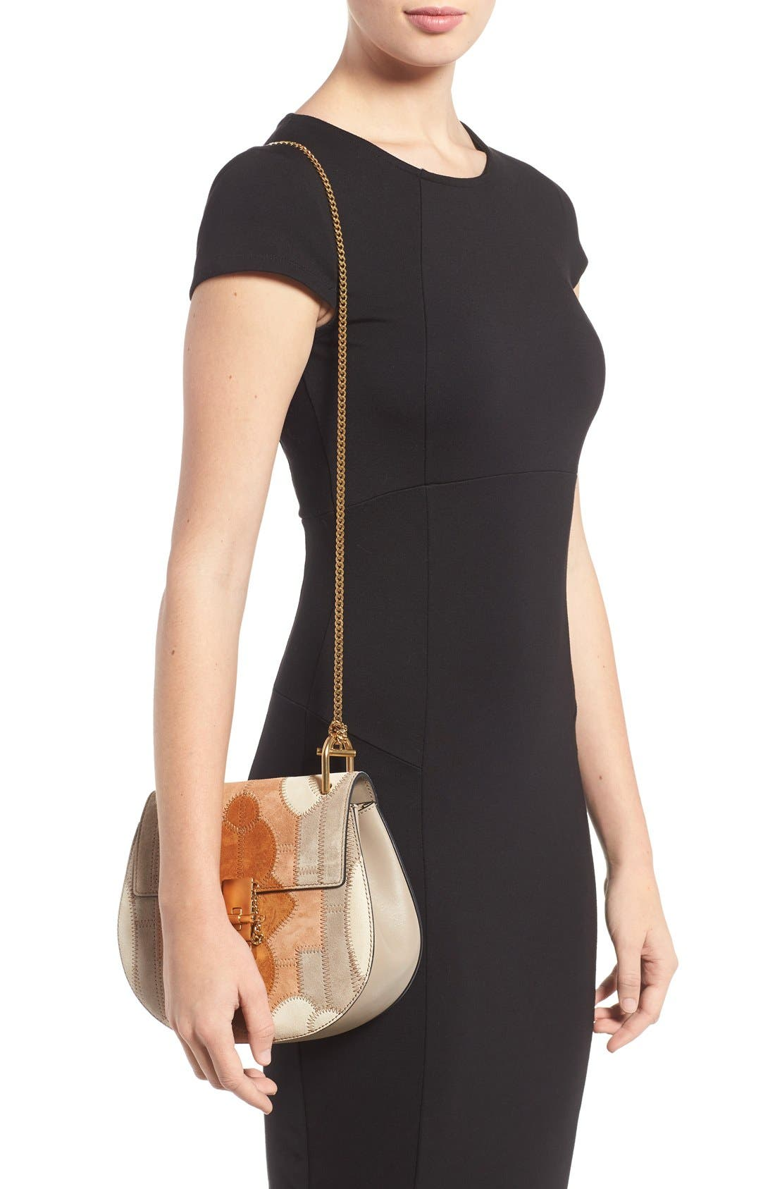 Alternate Image 2  - Chloé 'Small Drew' Patchwork Suede Shoulder Bag