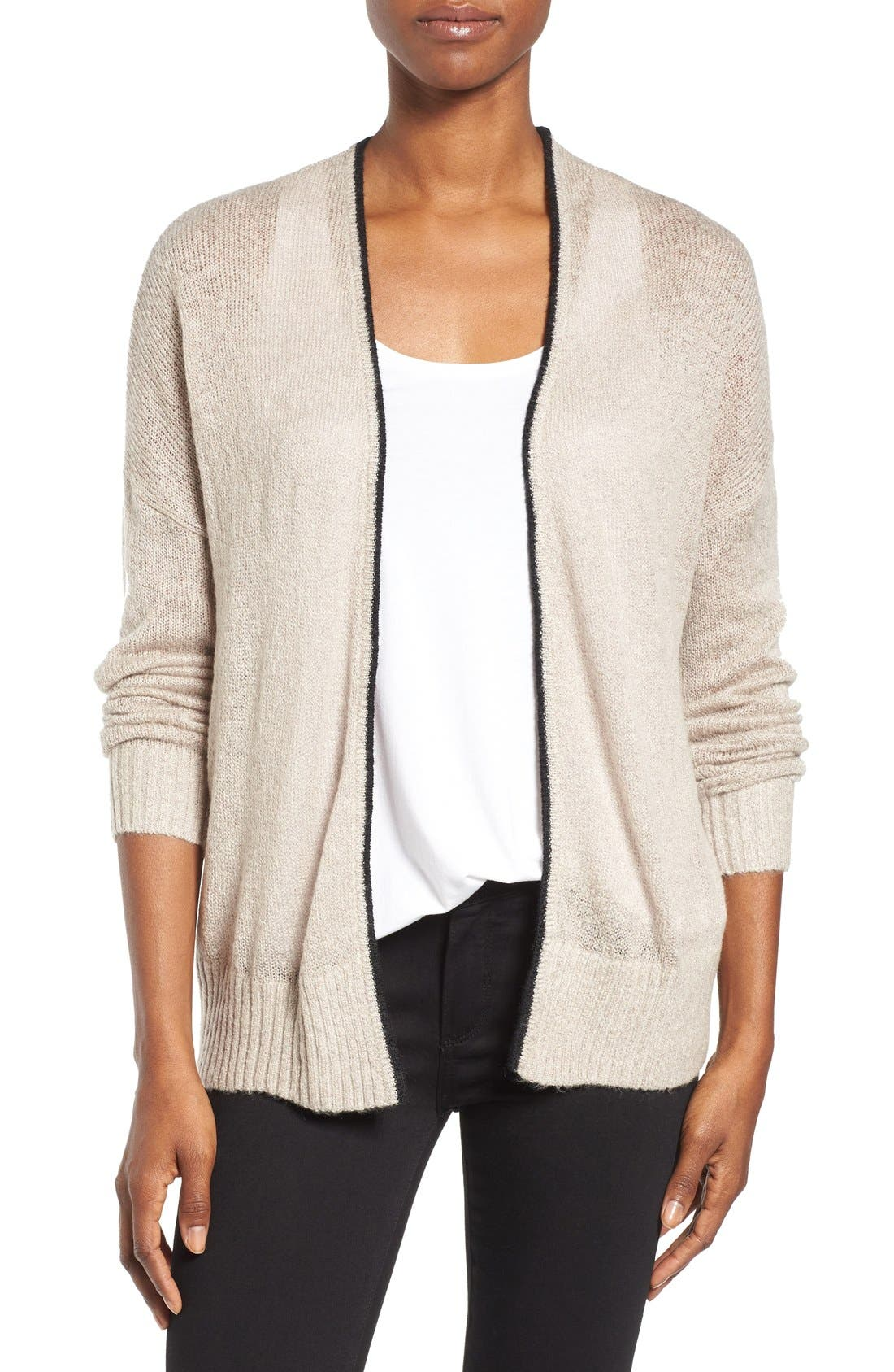 Alternate Image 1 Selected - Press Open Front Cardigan