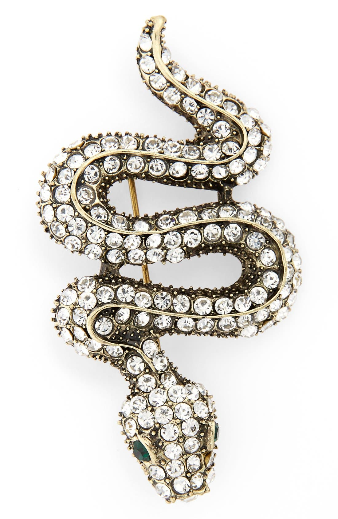 Alternate Image 1 Selected - Cara Crystal Snake Pin