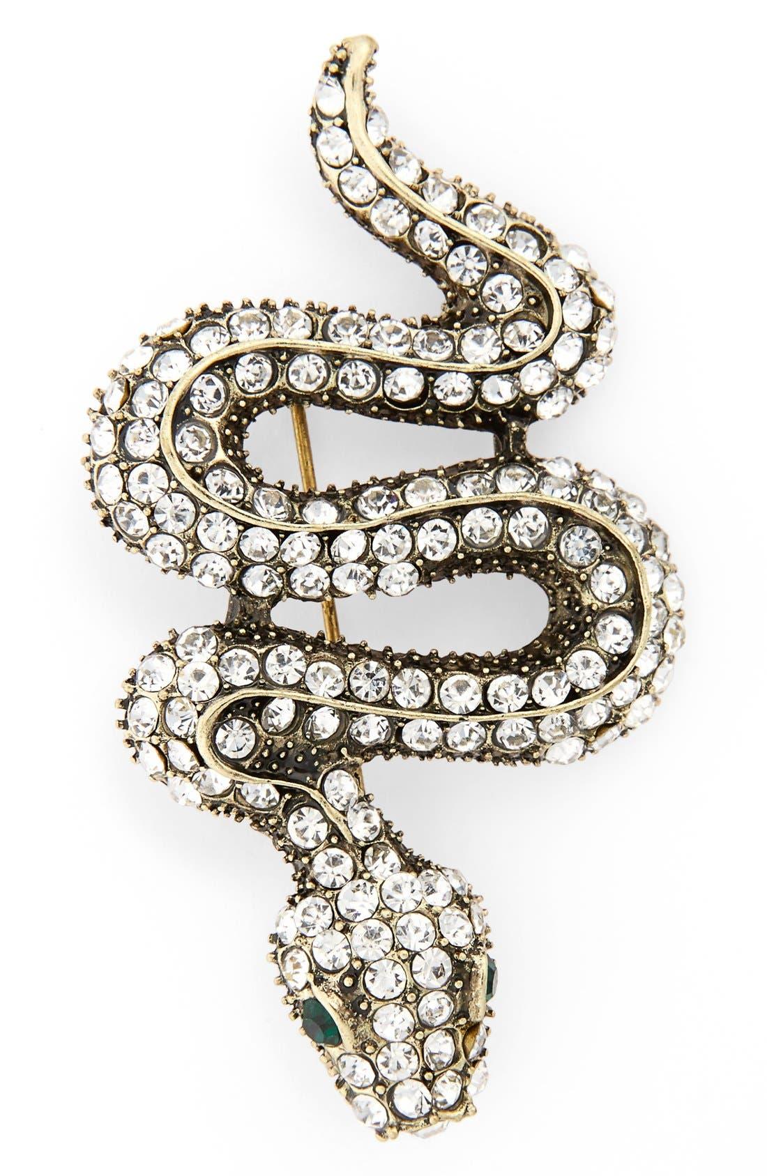 Main Image - Cara Crystal Snake Pin