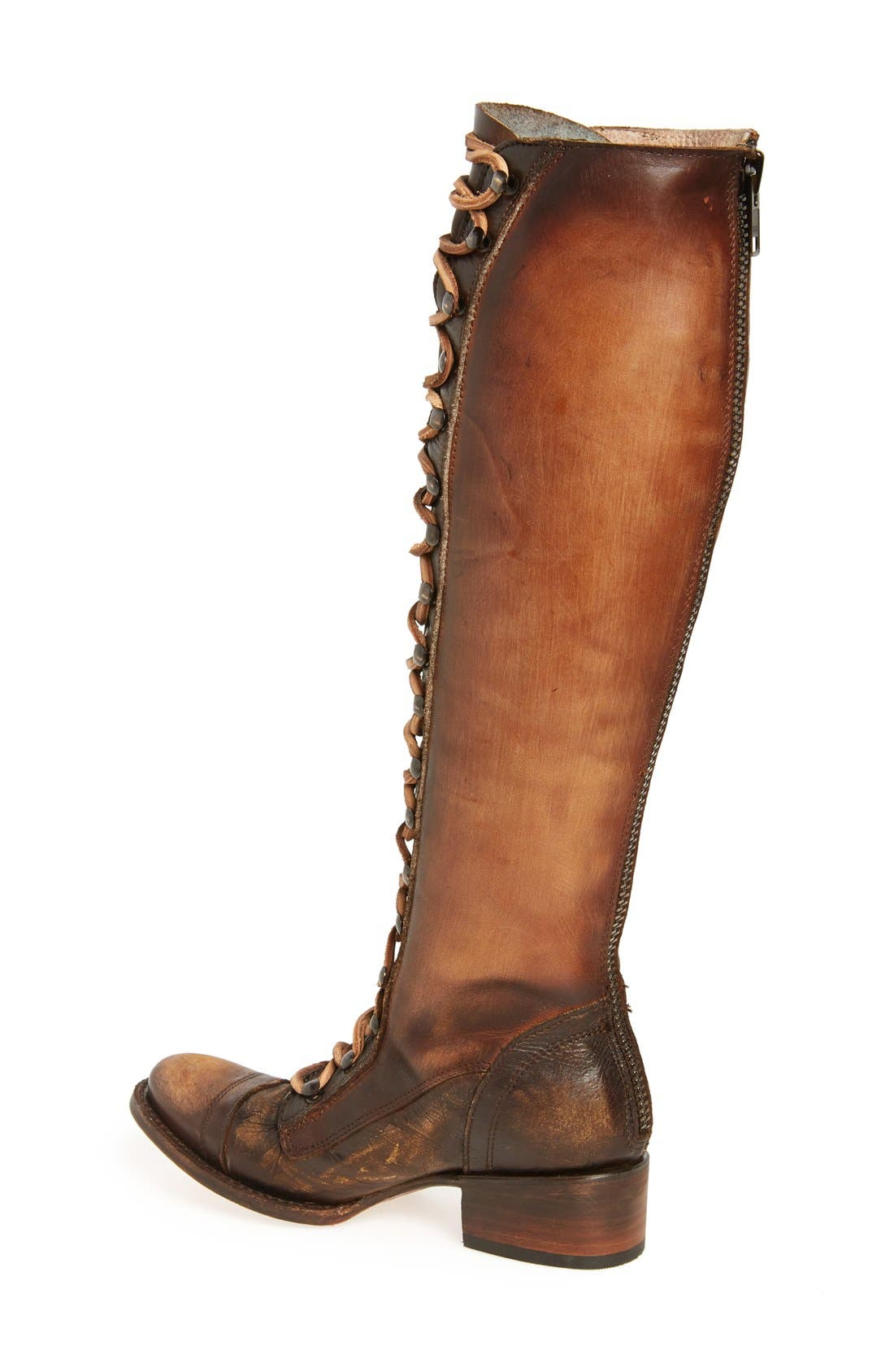 Arlo Lace-Up Knee High Boot,                             Alternate thumbnail 2, color,                             Tan