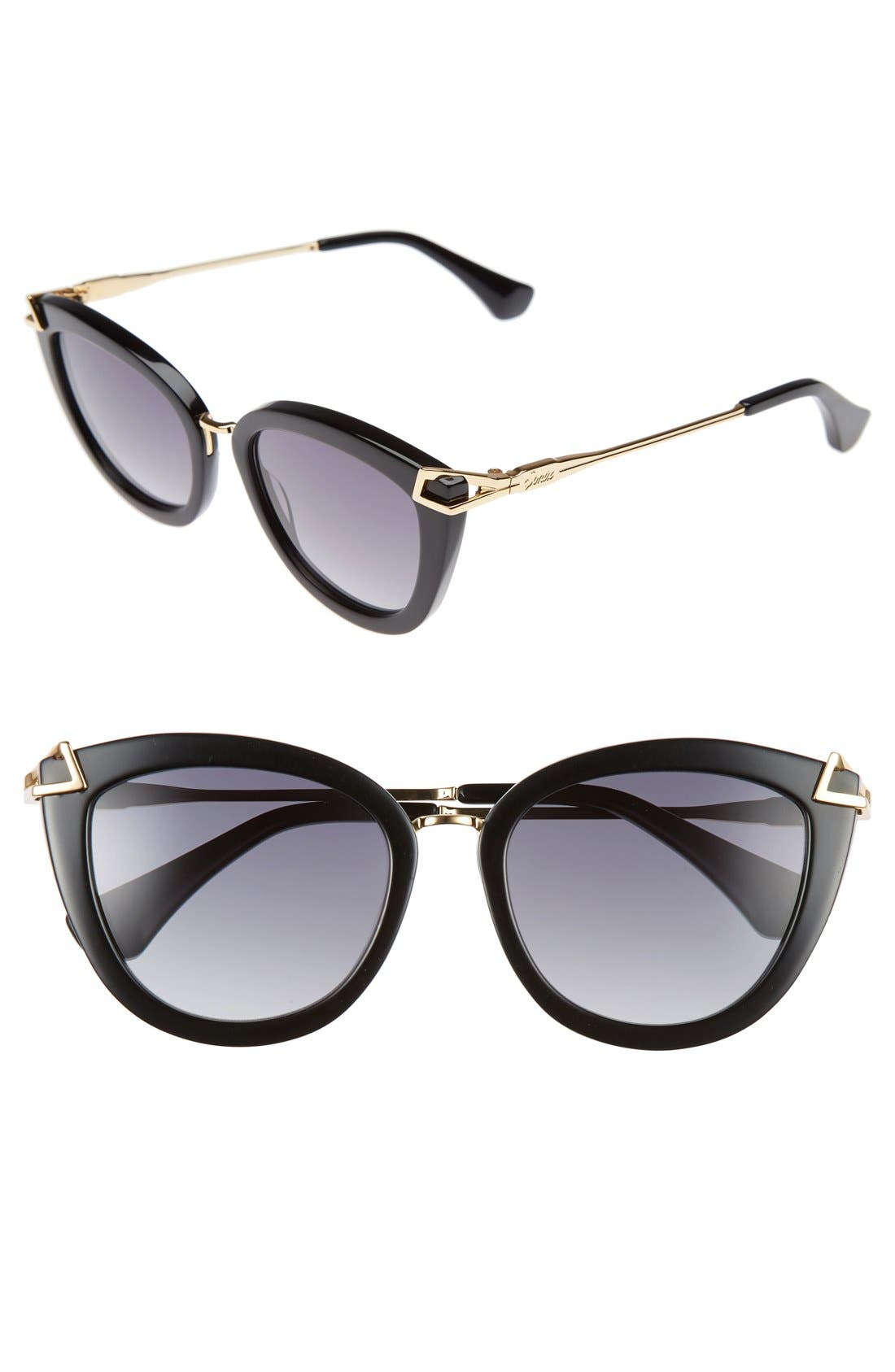 Sonix Melrose 51mm Gradient Cat Eye Sunglasses