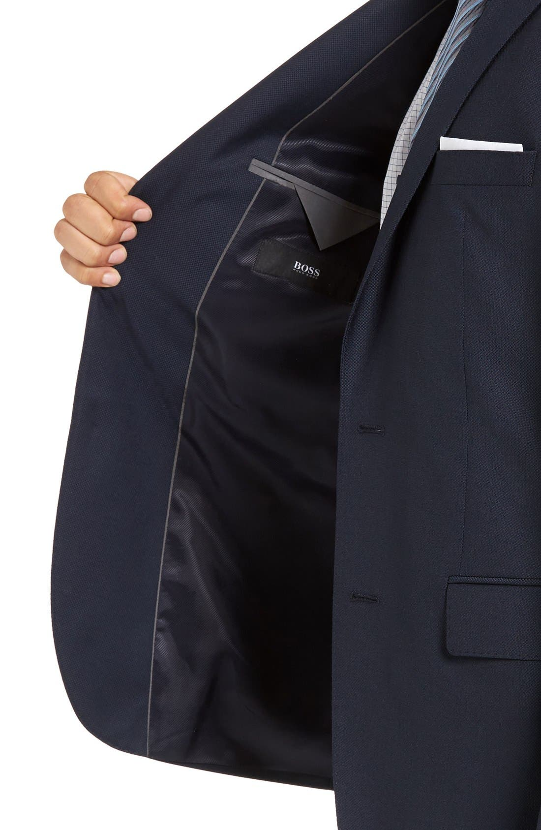 James Classic Fit Wool Blazer,                             Alternate thumbnail 4, color,                             Navy