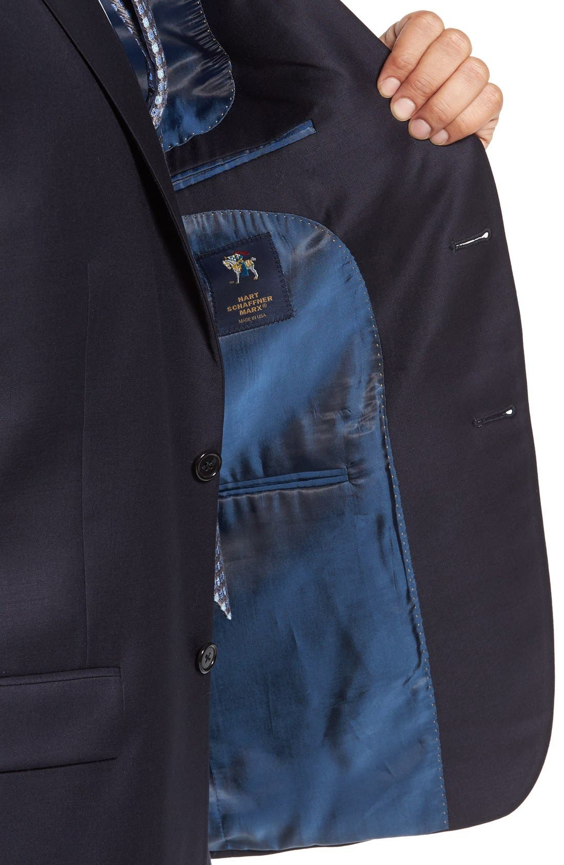 Chicago Classic Fit Solid Wool Suit,                             Alternate thumbnail 4, color,                             Navy