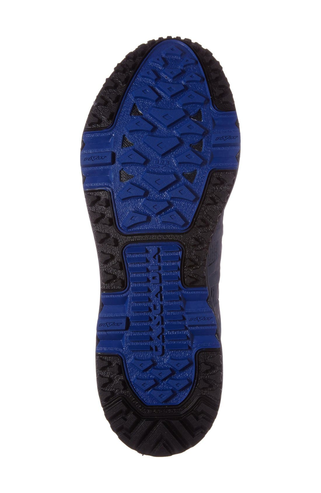 Cascadia 11 GTX Trail Running Shoe,                             Alternate thumbnail 4, color,                             Dress Blue/ Electric Blue