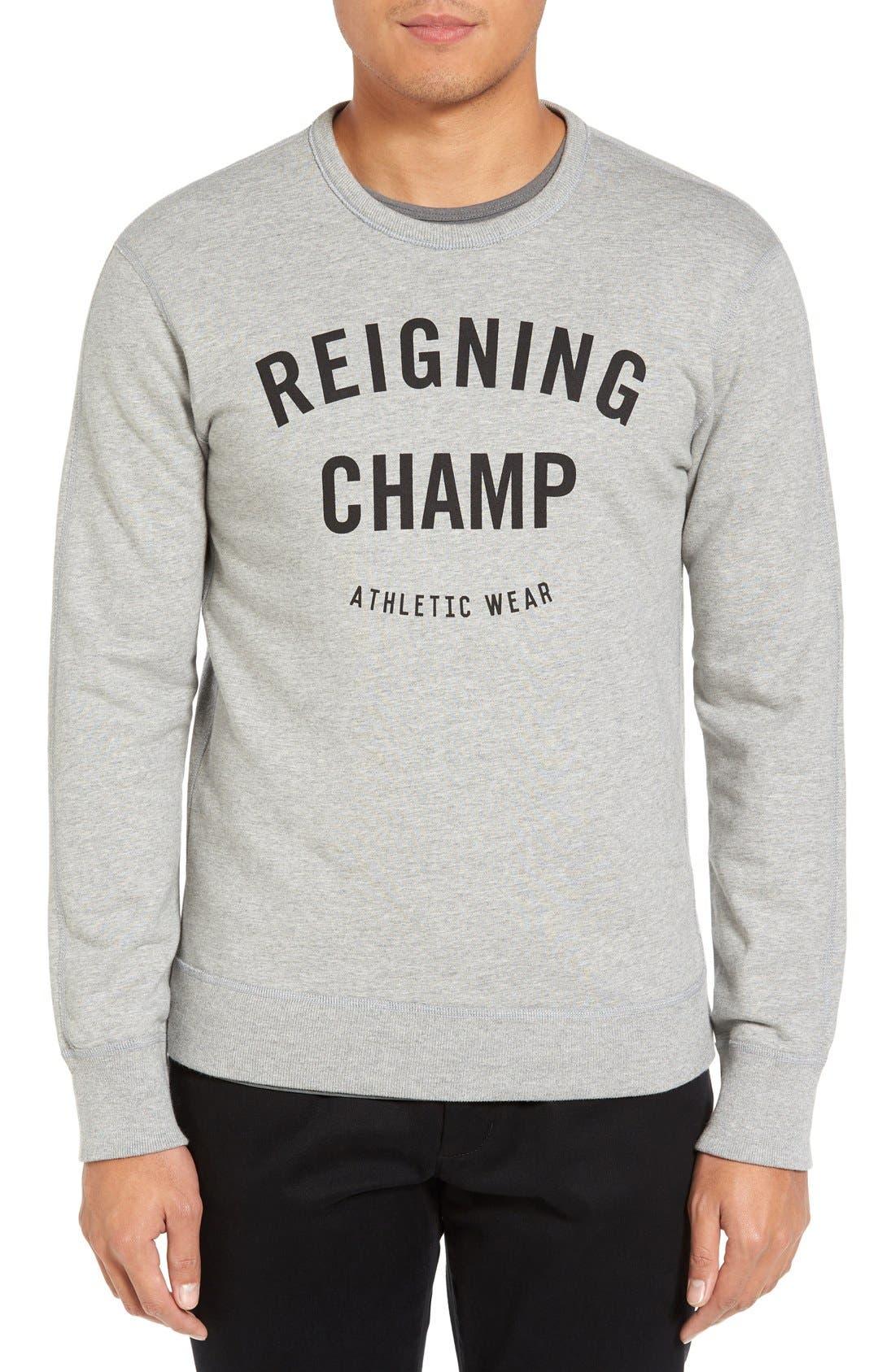 Main Image - Reigning Champ Gym Logo Crewneck T-Shirt