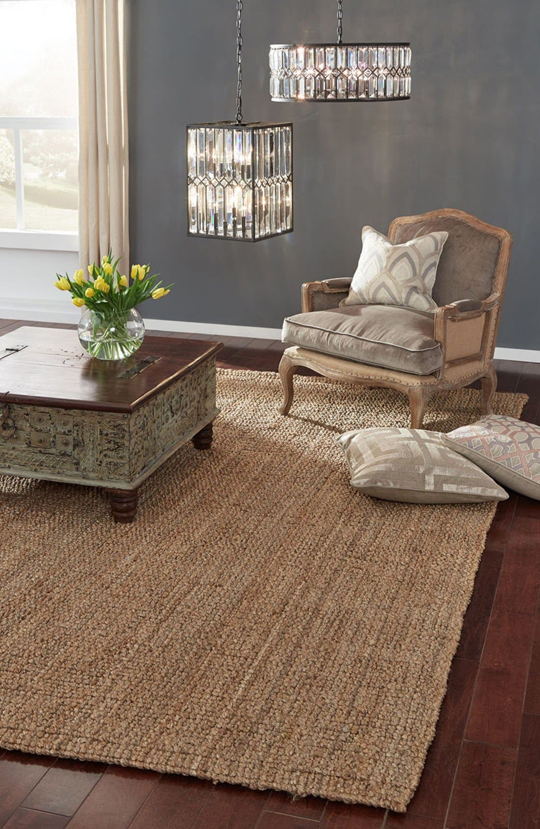 Hand Woven Loop Rug,                             Alternate thumbnail 2, color,                             Natural