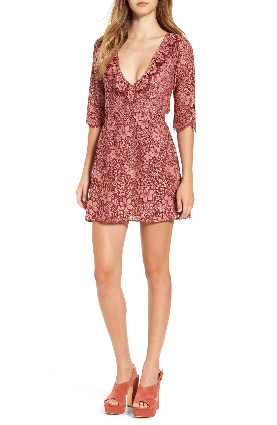Alternate Image 1 Selected - For Love & Lemons 'Theodora' Minidress
