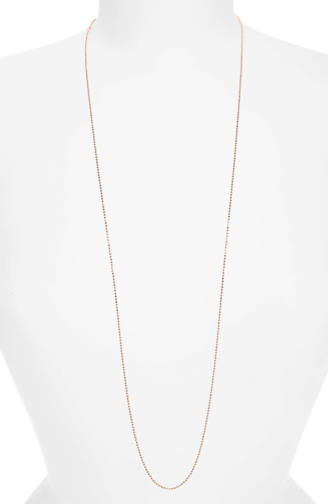 Argento Vivo Long Ball Chain Necklace