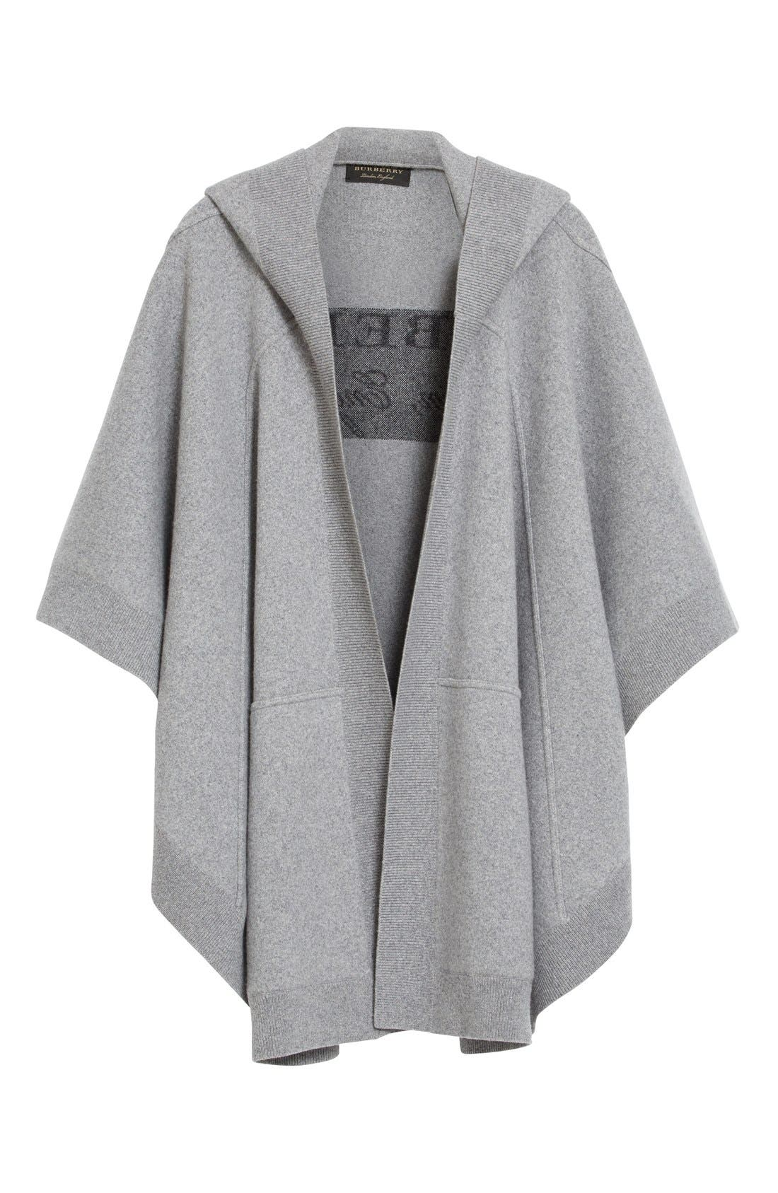 Alternate Image 5  - Burberry Carla Hooded Knit Poncho
