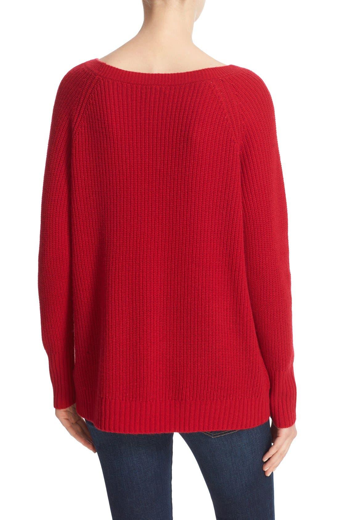Ekin Wool & Cashmere Sweater,                             Alternate thumbnail 2, color,                             Ruby