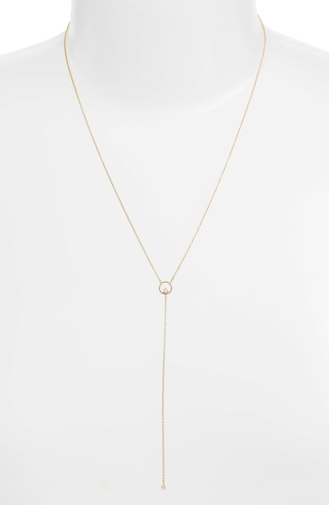 Alternate Image 2  - Zoë Chicco Diamond Circle Y-Necklace
