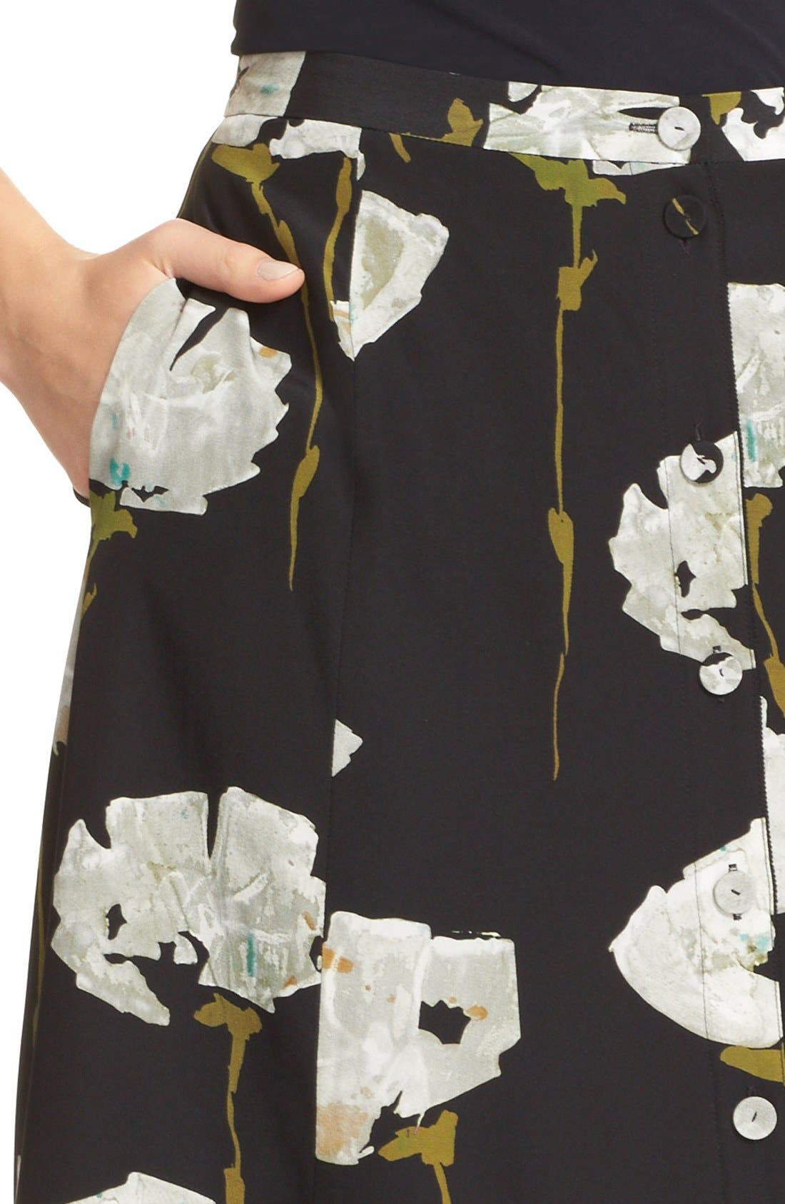 Alternate Image 6  - Lafayette 148 New York Carissa Floral Print Skirt