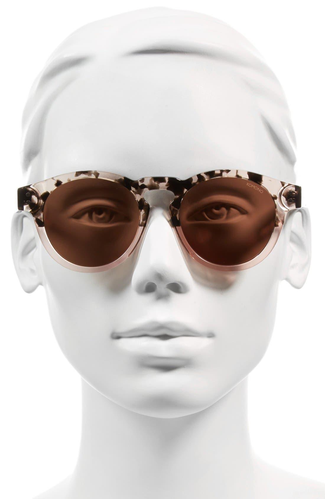 Alternate Image 2  - Komono Clement 50mm Round Sunglasses