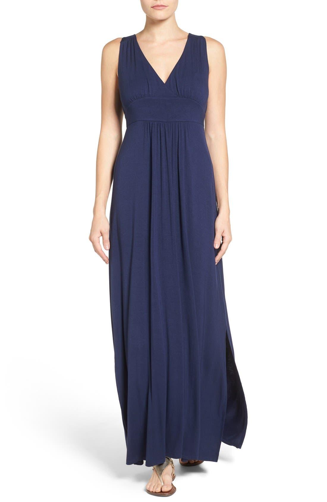 Alternate Image 1 Selected - Caslon® Knit Maxi Dress (Regular & Petite)