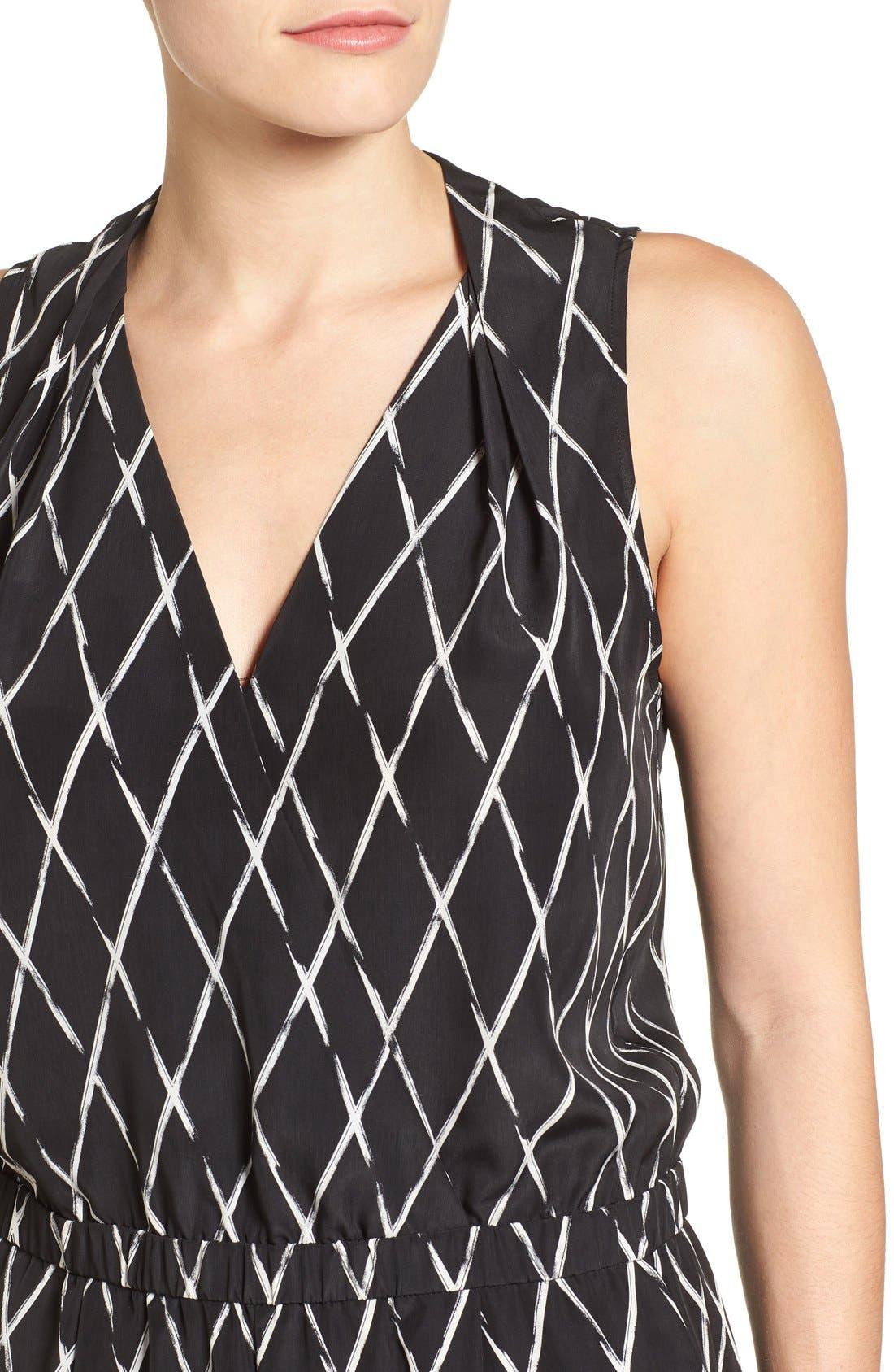 Alternate Image 4  - Halogen® V-Neck Sleeveless Jumpsuit (Regular & Petite)