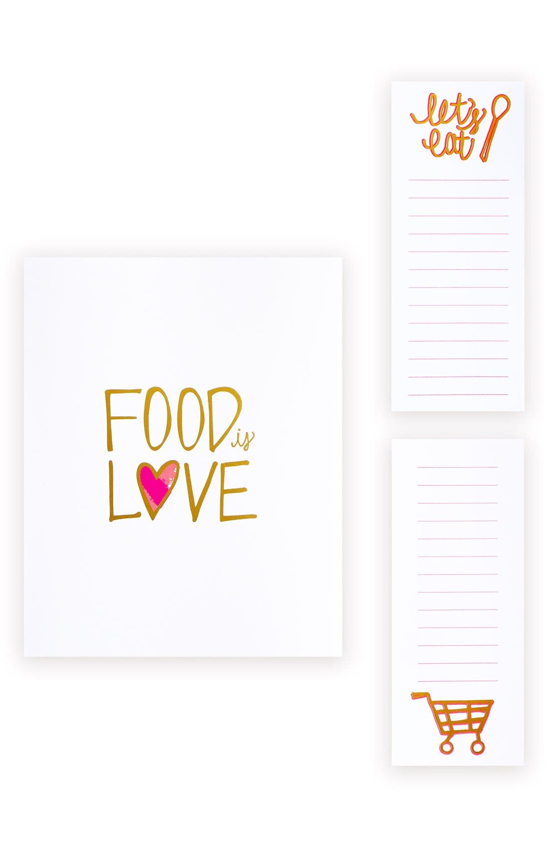 Market Art Print & Magnetic Notepads Set,                         Main,                         color, White