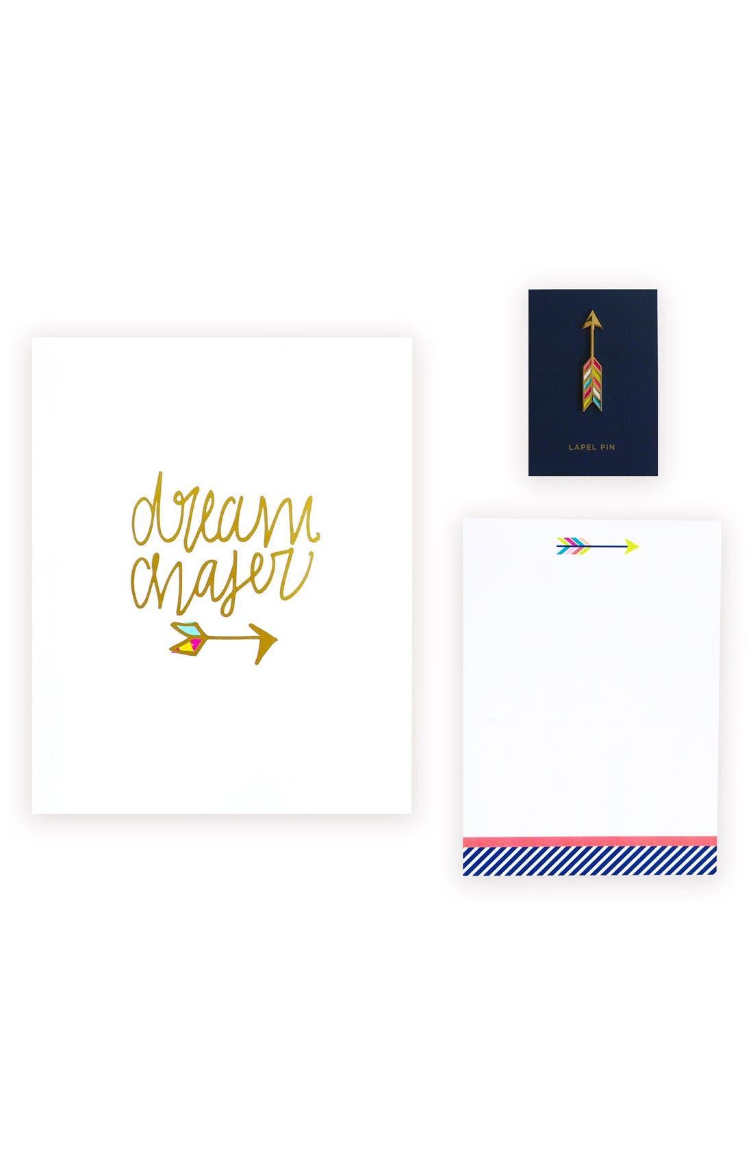 lake + loft Dream Chaser Art Print, Notepad & Lapel Pin Set