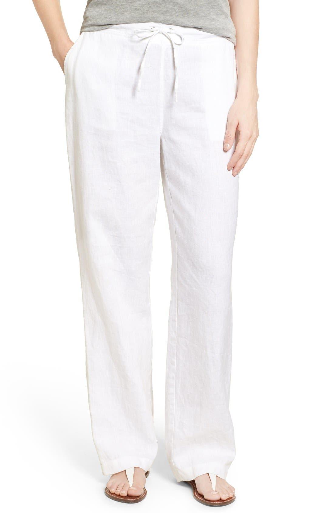 White Linen Pants Womens E4UceKNV