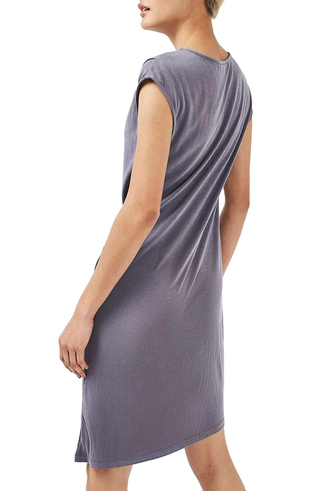 Alternate Image 2  - Topshop Asymmetric Slinky Drape Dress (Regular & Petite)