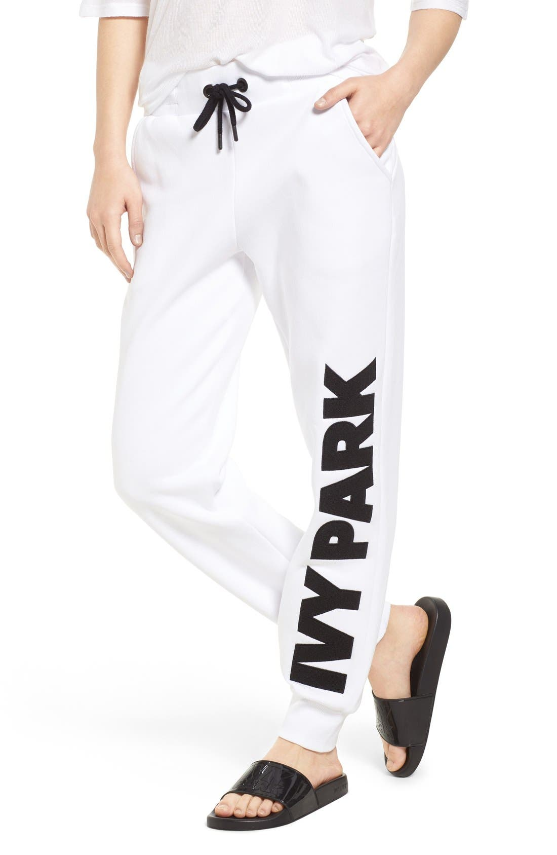Alternate Image 1 Selected - IVY PARK® Chenille Logo Jogger Pants