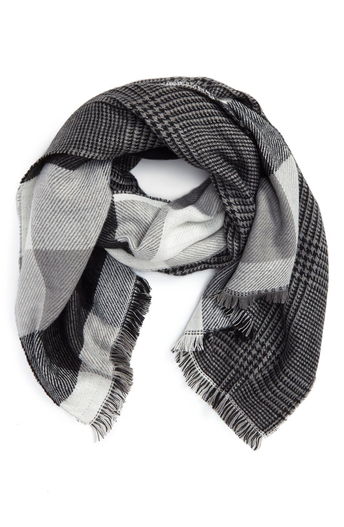 Alternate Image 1 Selected - David & Young Reversible Plaid Scarf