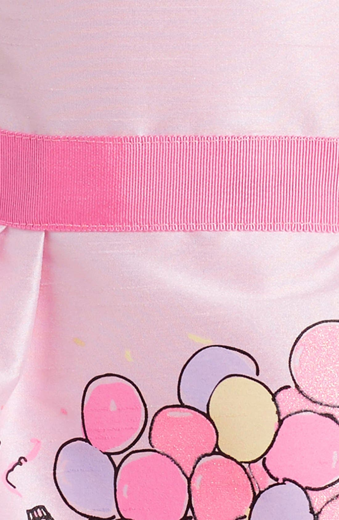 Birthday Balloons Party Dress,                             Alternate thumbnail 3, color,                             Pink