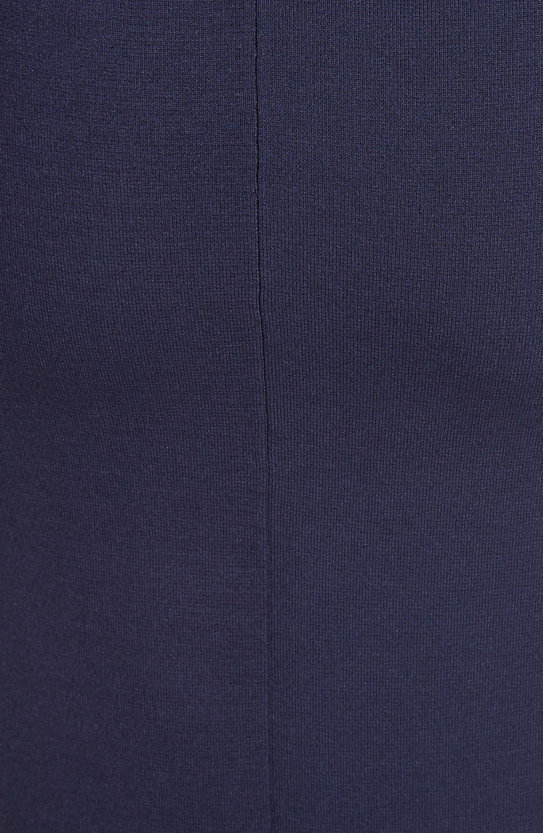 Stretch Knit Pencil Skirt,                             Alternate thumbnail 6, color,                             Navy