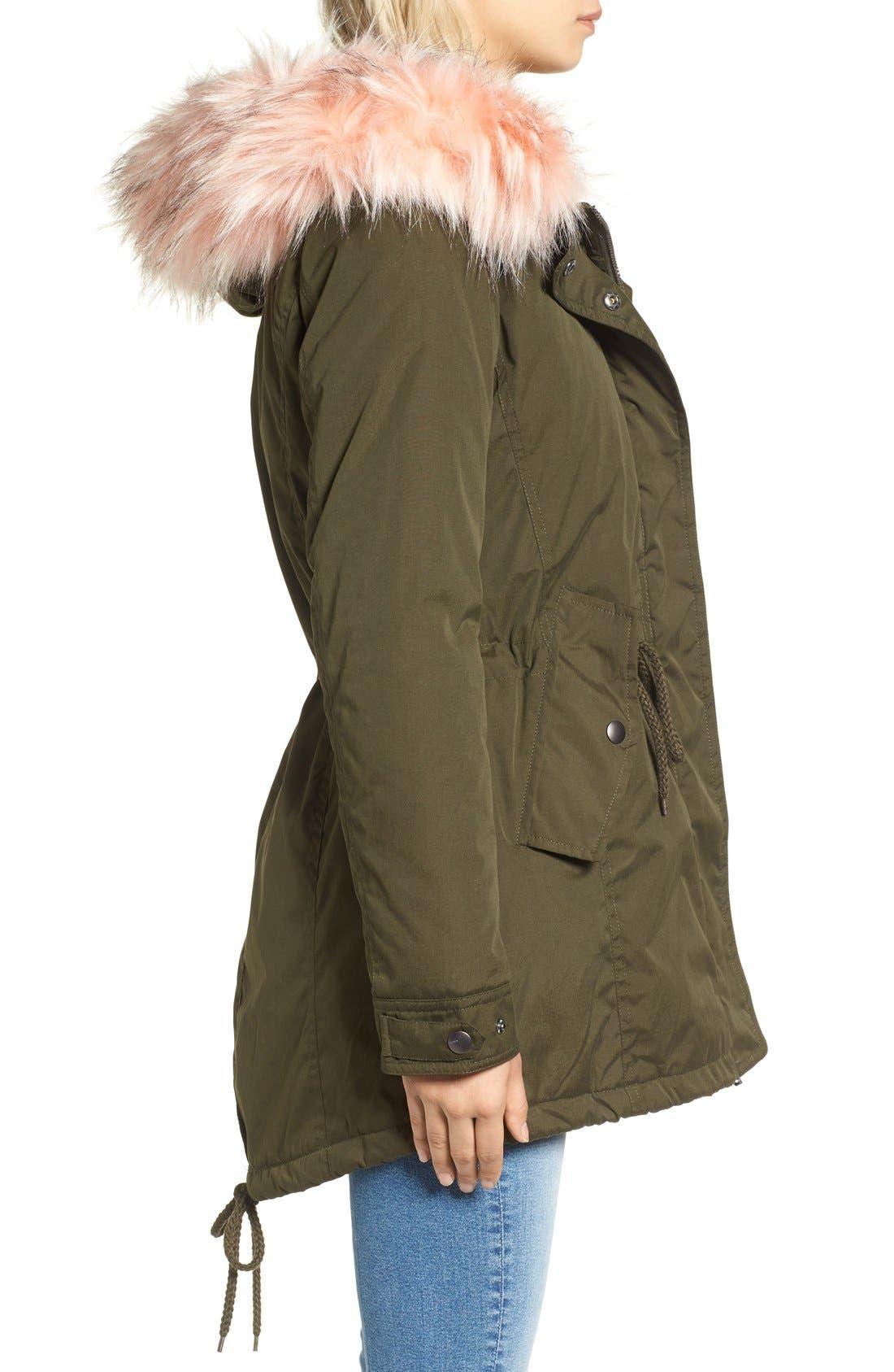 Alternate Image 4  - Tinsel Faux Fur Trim Parka