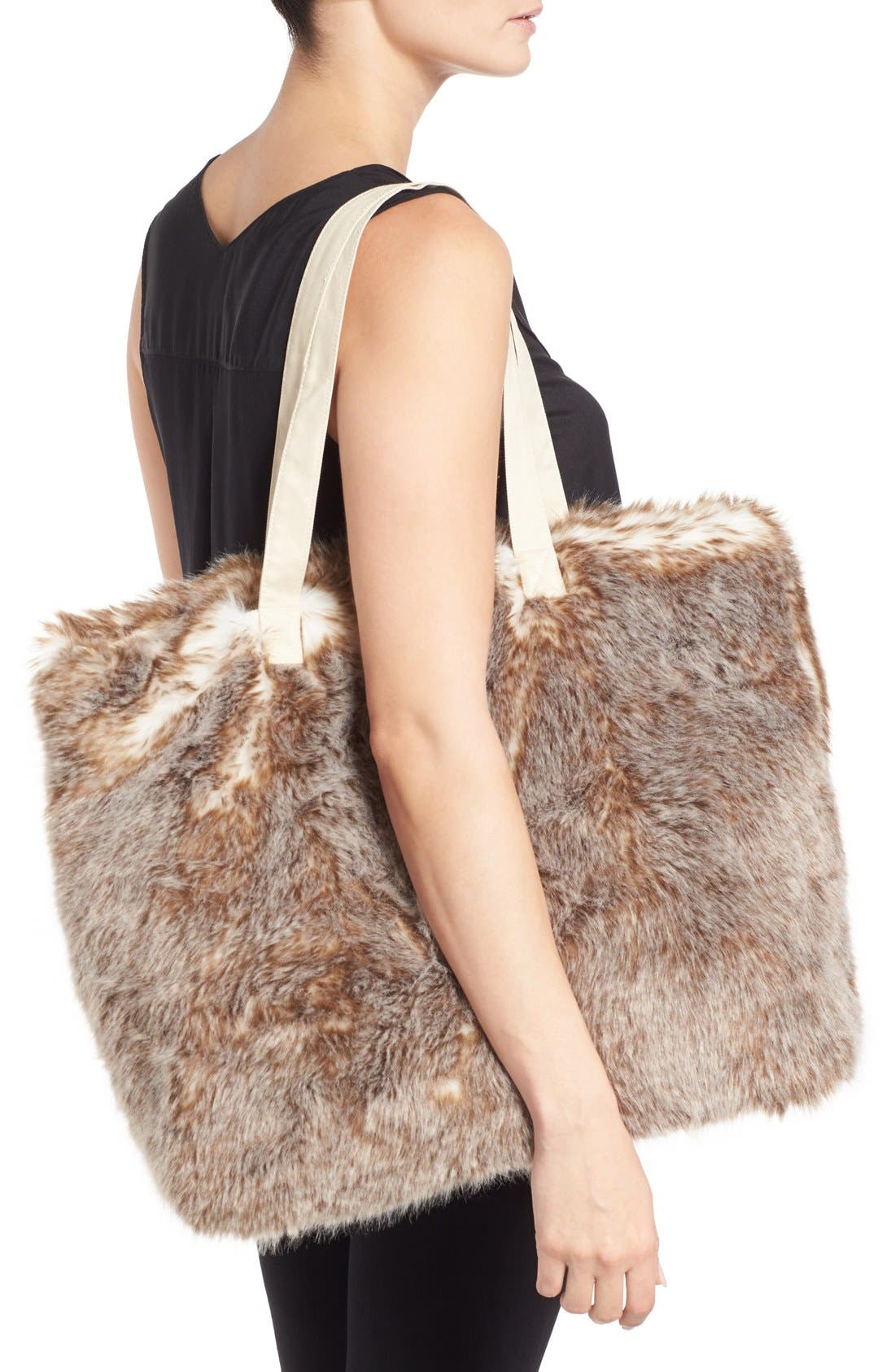 Alternate Image 2  - Nordstrom at Home Cuddle Up Faux Fur Tote