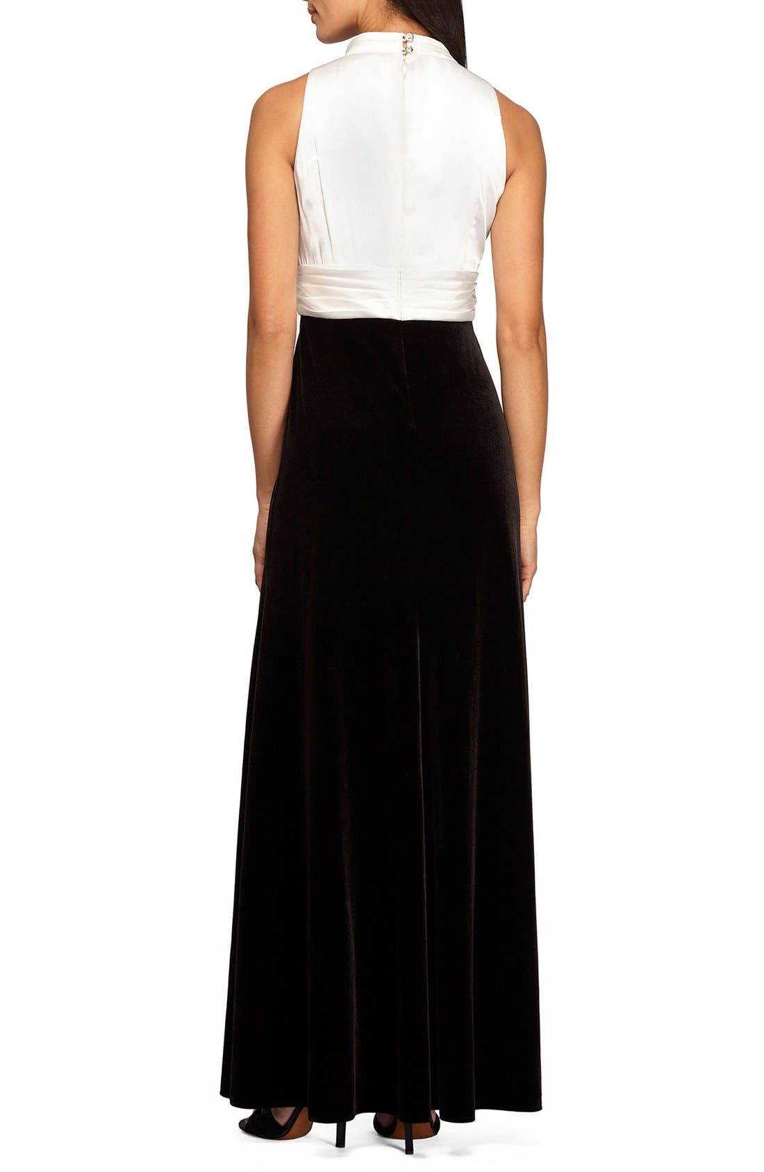 Alternate Image 2  - Alex Evenings Stretch Fit & Flare Gown
