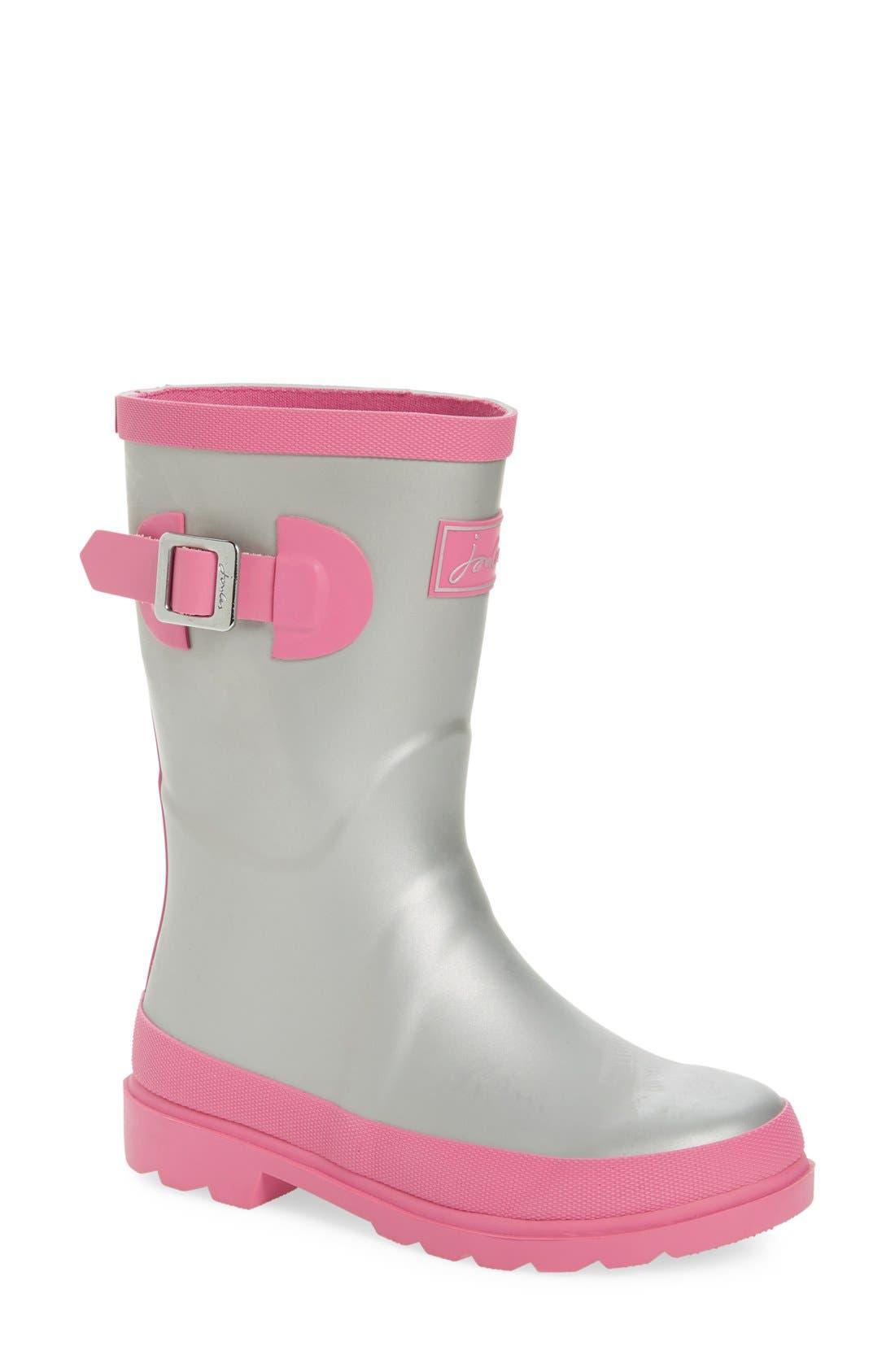 Field Welly Rain Boot,                         Main,                         color, Silver