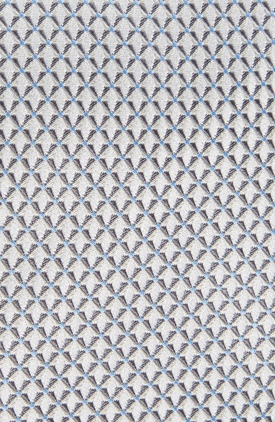 'Grayson Mini' Silk Tie,                             Alternate thumbnail 2, color,                             Silver