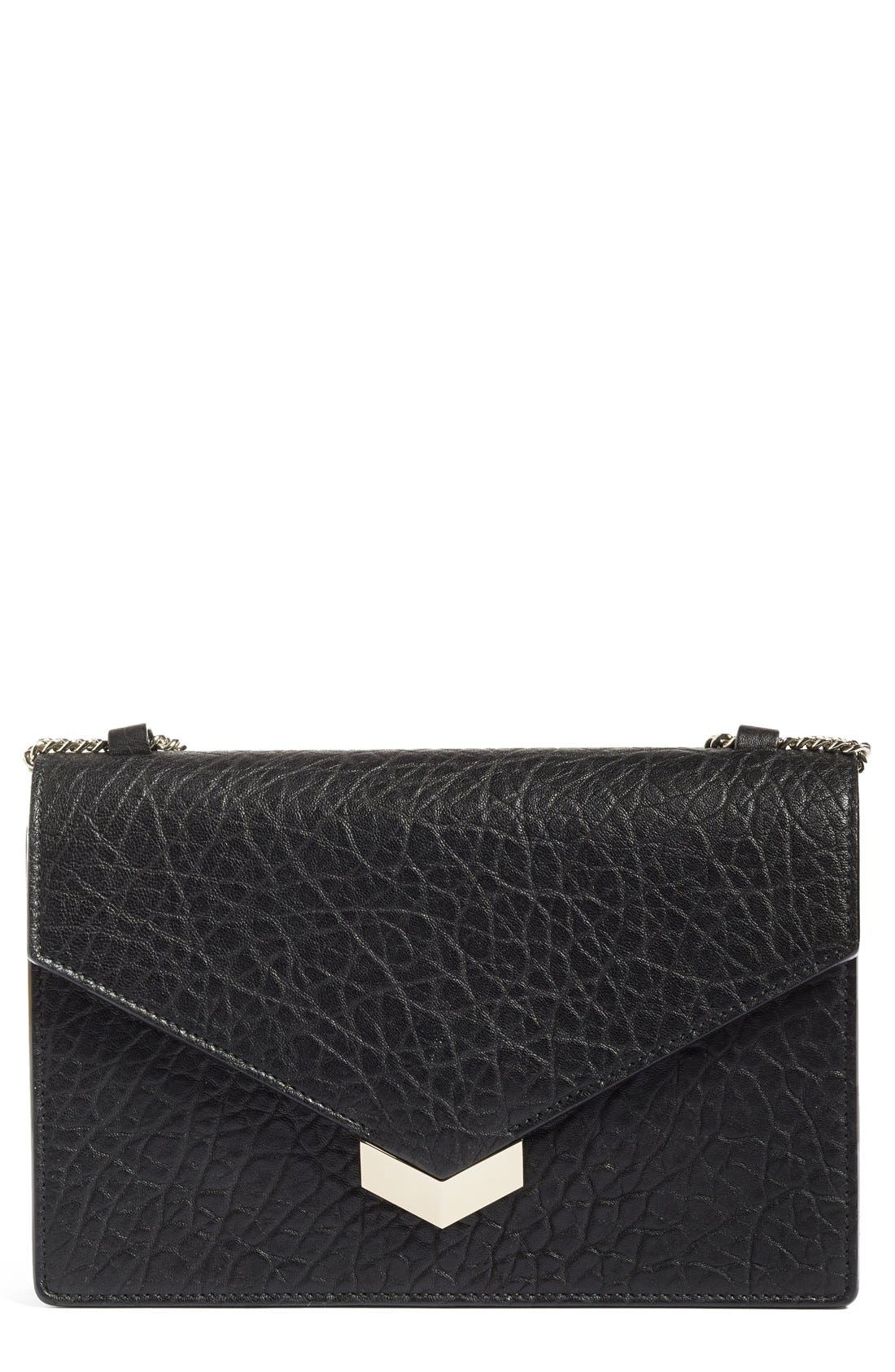 Alternate Image 1 Selected - Jimmy Choo Leila Grainy Lambskin Leather Crossbody Bag