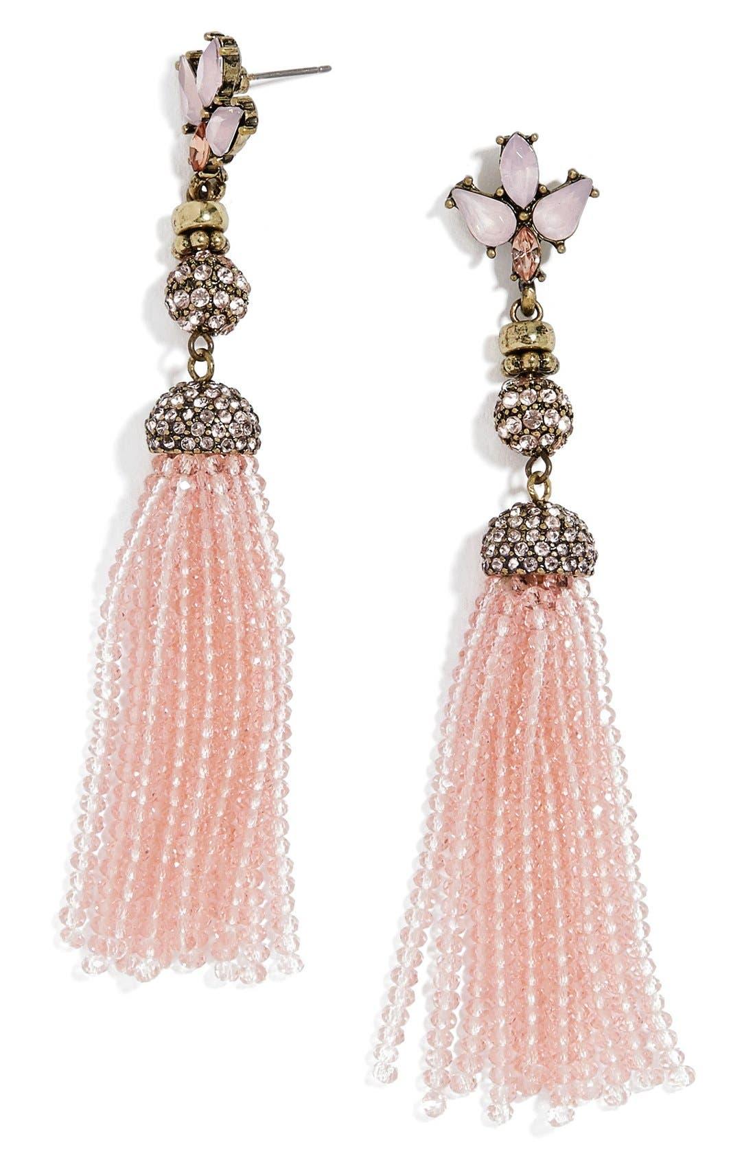 Alternate Image 1 Selected - BaubleBar Paidyn Tassel Drop Earrings