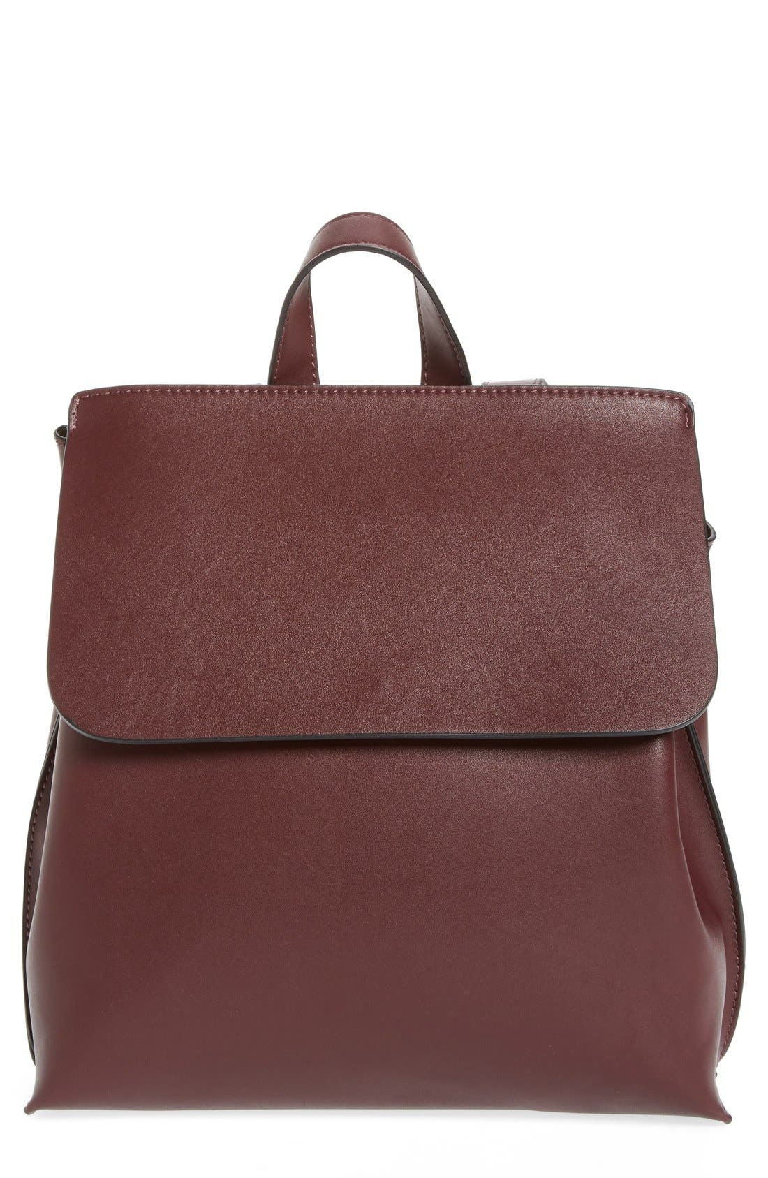 Alternate Image 1 Selected - Sole Society Selena Faux Leather Backpack