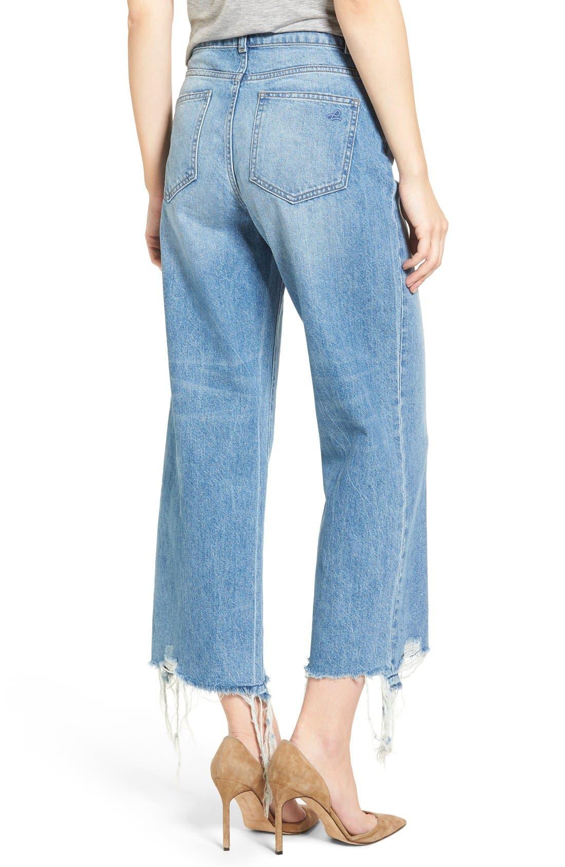 Hepburn High Rise Wide Leg Jeans,                             Alternate thumbnail 2, color,                             Slate