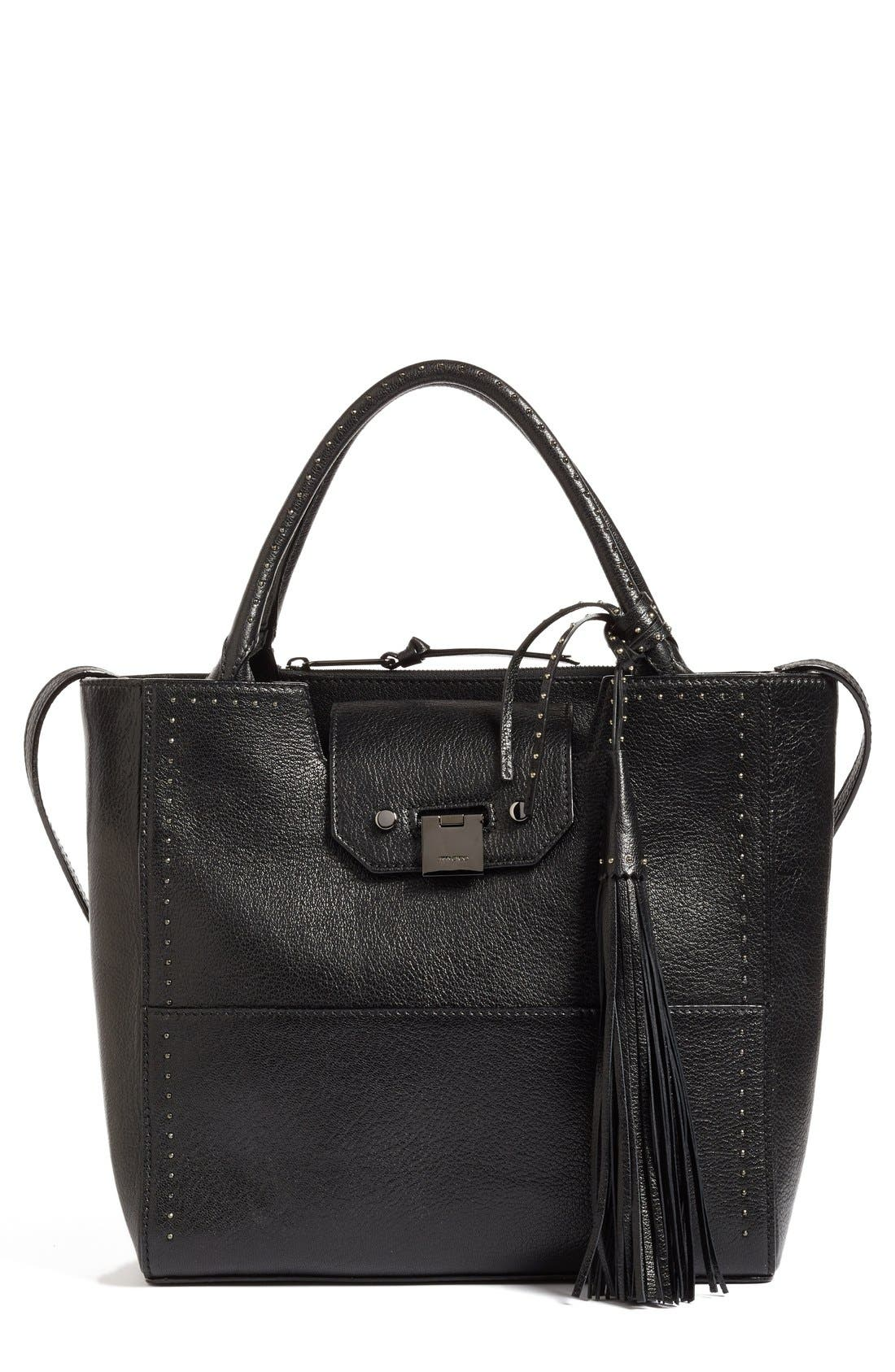 JIMMY CHOO Robin Grainy Goatskin Leather Tote