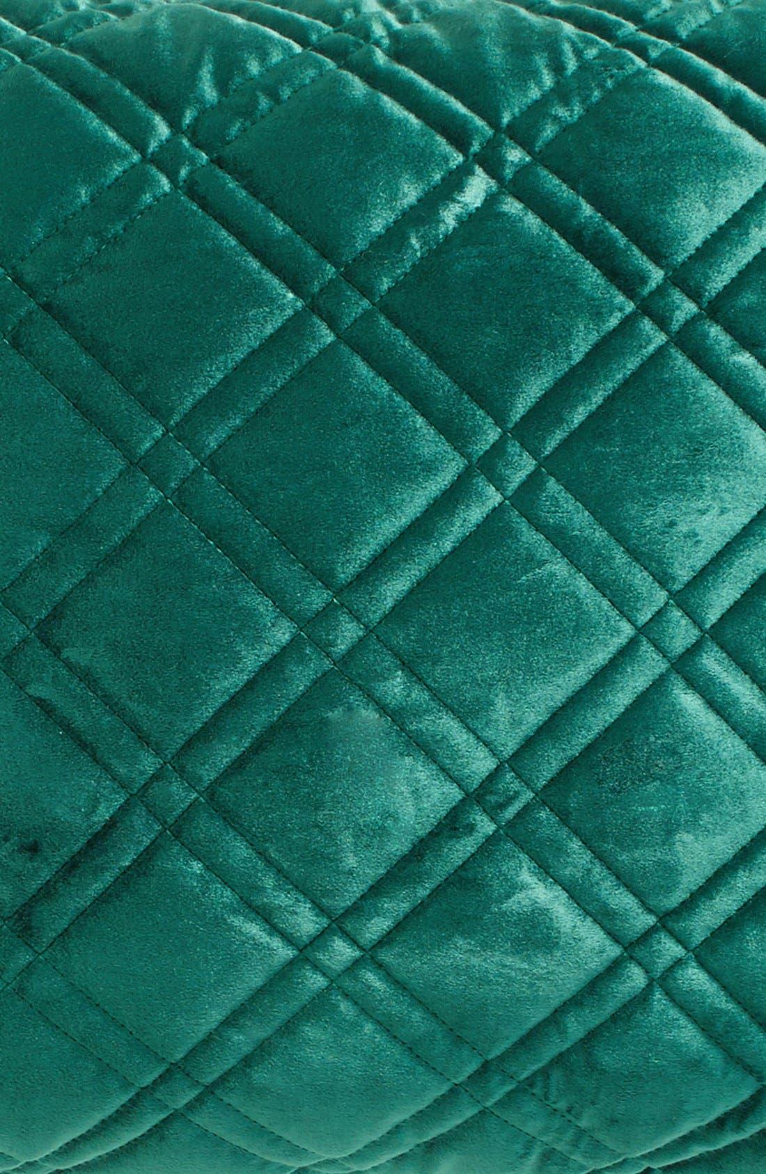 Quilted Velvet Standard Sham,                             Alternate thumbnail 3, color,                             Emerald