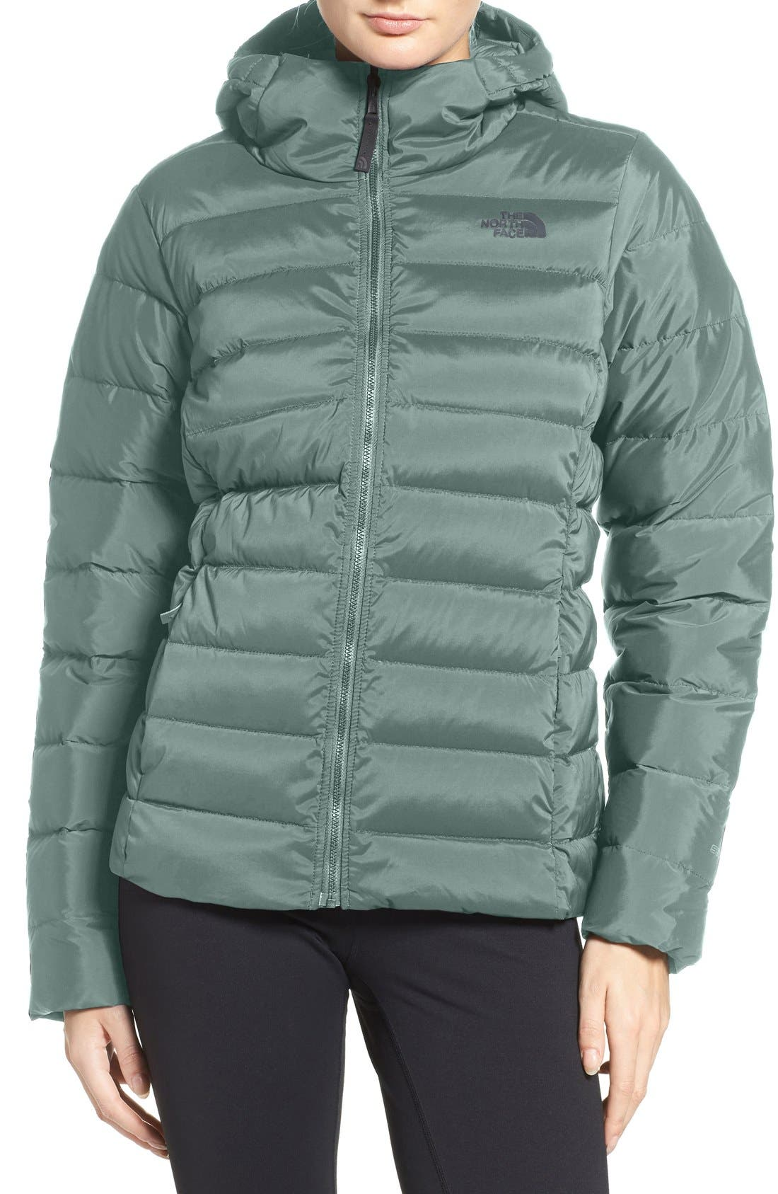 Main Image - The North Face W Hooded Stretch Down Jacket