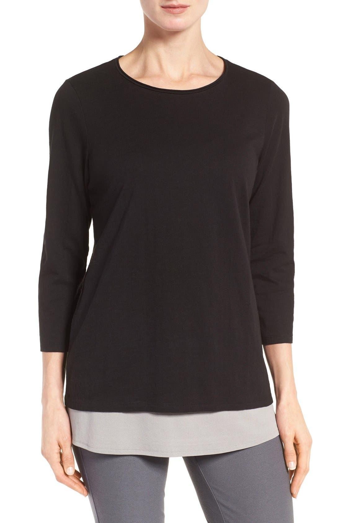 Eileen Fisher Slubby Organic Cotton Jersey Top