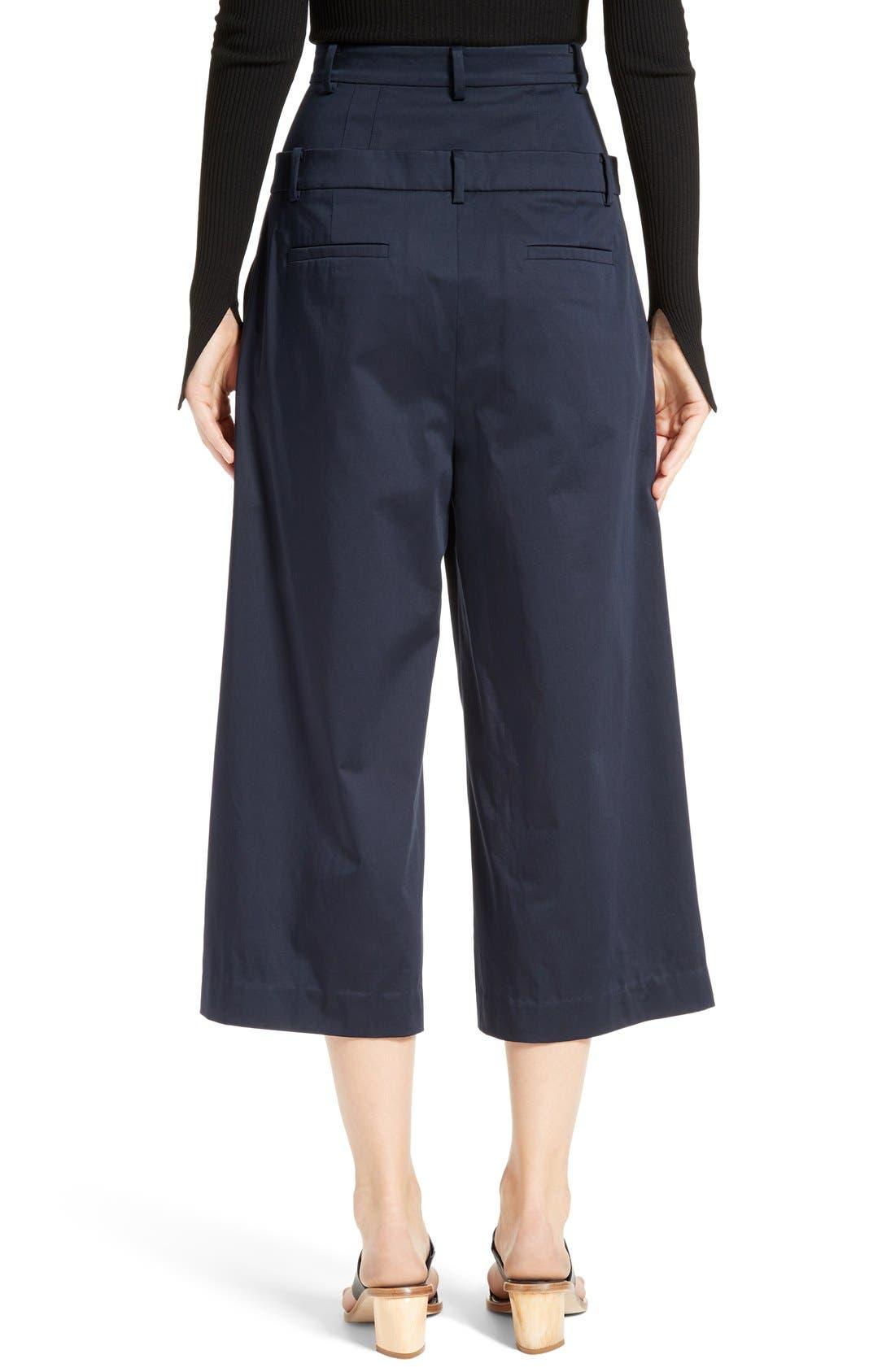 Alternate Image 3  - Tibi Mila Satin Double Waist Crop Pants