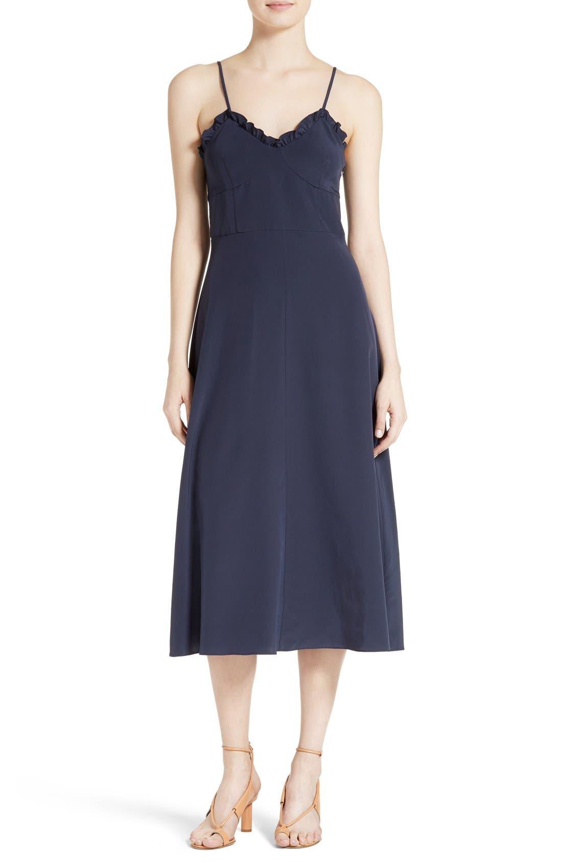 Alternate Image 1 Selected - Tibi Ruffled Silk Midi Dress