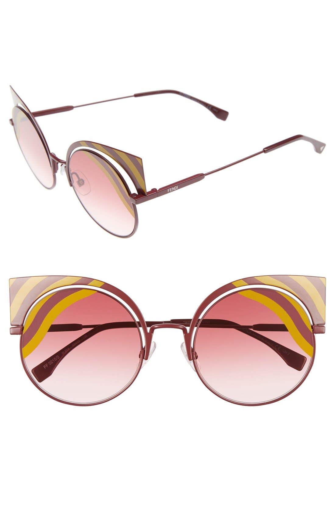 Fendi Hypnoshine 53mm Cat Eye Sunglasses