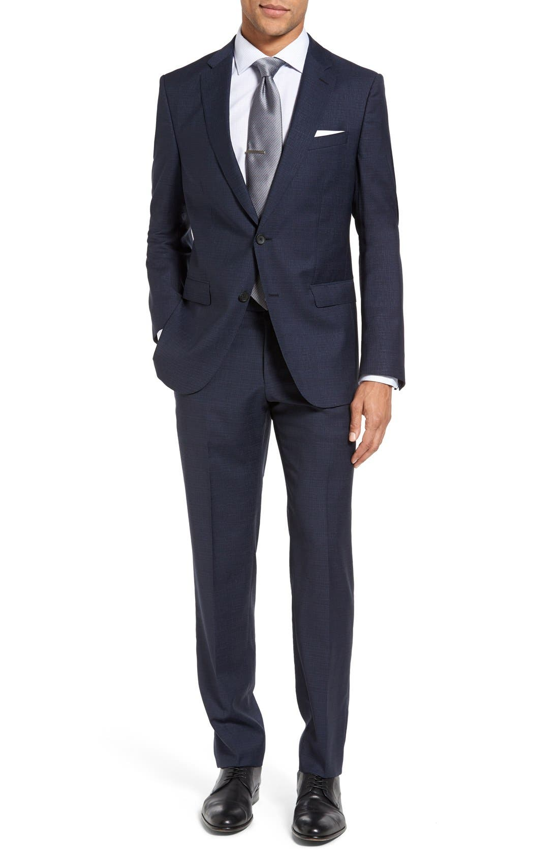 Alternate Image 1 Selected - BOSS Nova/Ben Trim Fit Solid Wool Suit