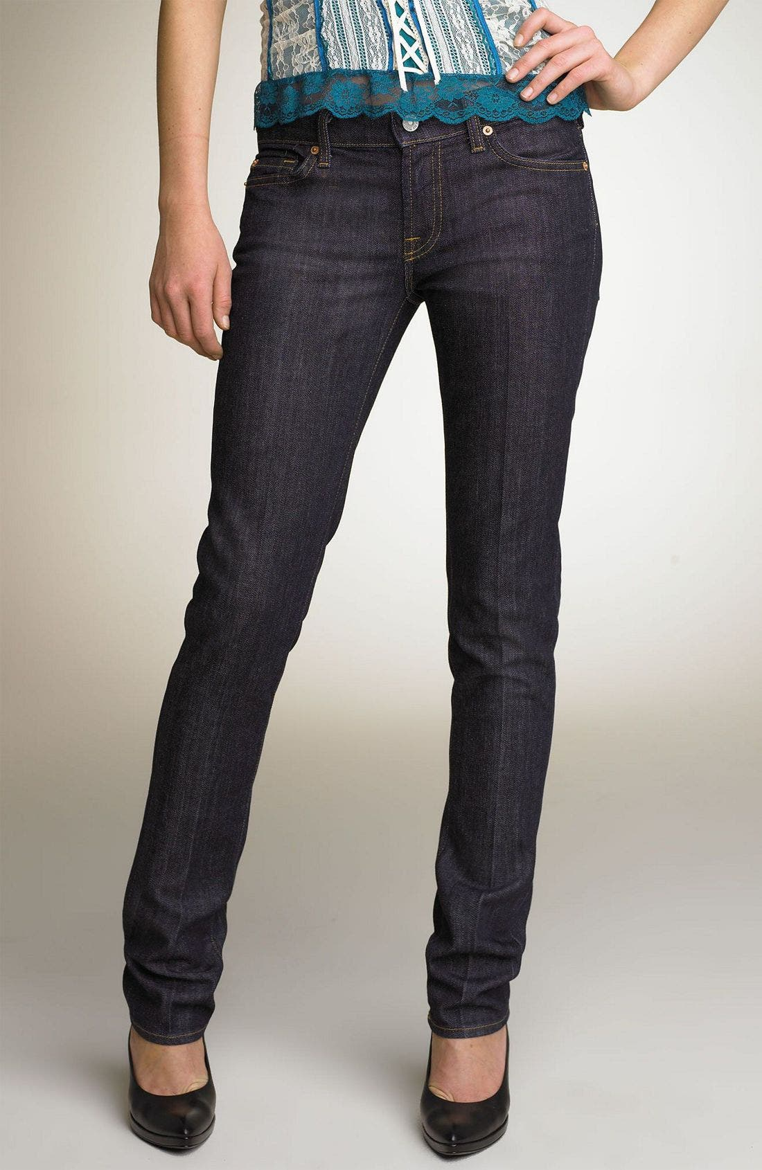 Alternate Image 2  - 7 For All Mankind® 'Roxanne' Skinny Stretch Jeans (Mercer Wash)
